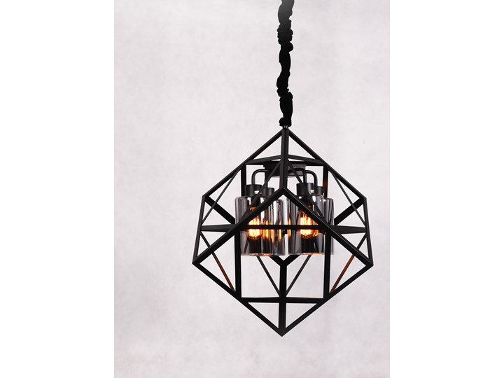 NOWOCZESNA LAMPA WISZĄCA LOFT BRUTTE Styl Nowoczesny Lampa druciana Szkło Metal Stal Styl Industrialny