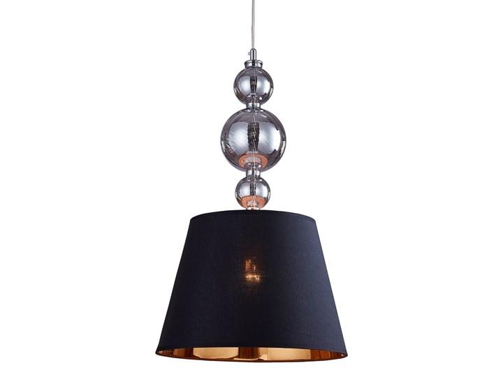 NOWOCZESNA LAMPA WISZĄCA CZARNA MURANEO Tkanina Lampa z abażurem Lampa z kloszem Szkło Chrom Metal Kolor Czarny Styl Nowoczesny