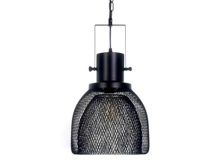 LAMPA WISZĄCA CZARNA FRATTON Lampa z abażurem Lampa druciana Metal Lampa z kloszem Styl Nowoczesny