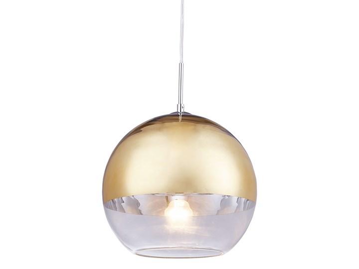 NOWOCZESNA LAMPA WISZĄCA ZŁOTA VERONI D30 Szkło Metal Lampa kula Ilość źródeł światła 1 źródło Kolor Złoty