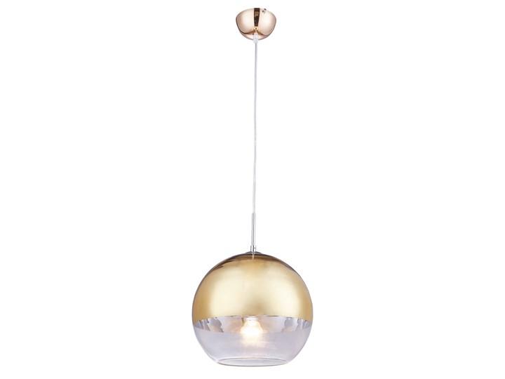 NOWOCZESNA LAMPA WISZĄCA ZŁOTA VERONI D30 Ilość źródeł światła 1 źródło Lampa kula Szkło Metal Kolor Złoty