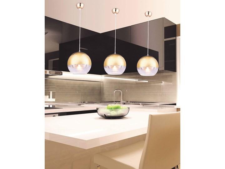 NOWOCZESNA LAMPA WISZĄCA ZŁOTA VERONI D30 Ilość źródeł światła 1 źródło Szkło Lampa kula Metal Styl Nowoczesny