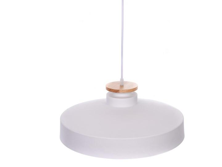 NOWOCZESNA LAMPA WISZĄCA BIAŁA LUDOR Drewno Metal Lampa z abażurem Lampa z kloszem Lampa inspirowana Styl Skandynawski