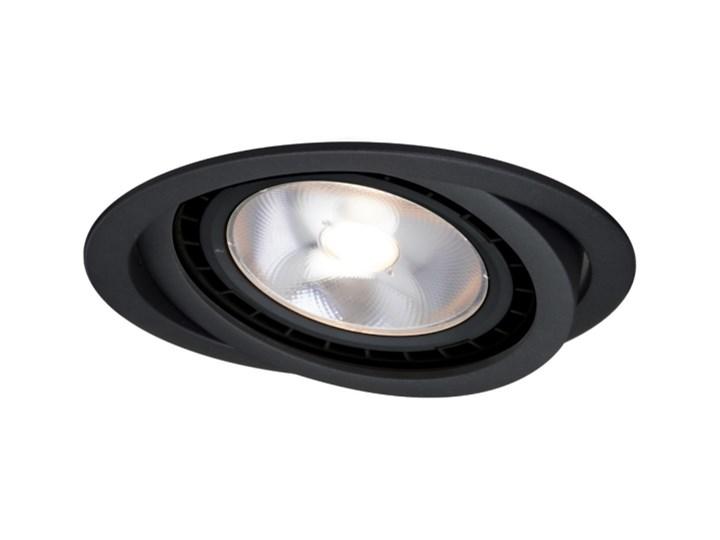 NERO oczko podtynkowe 1 x 50W GU10 AR111 ruchome czarne duże okrągłe Light Prestige LP-4424/1RS BK movable Oprawa ruchoma Oprawa stropowa Kolor Czarny