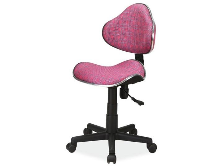 Fotel biurowy Morild różowe wzory