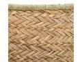 Kosz dekoracyjny wykonany z trawy morskiej z uchwytami, 37x27cm