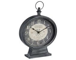 Zegar stołowy, stojący retro z uchwytem, kolor szary, Ø32 cm