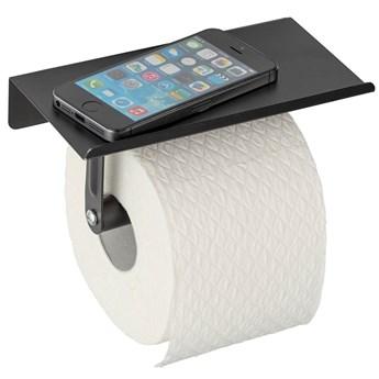 Uchwyt na papier toaletowy Allstar z półką na komórkę w kolorze czarnym
