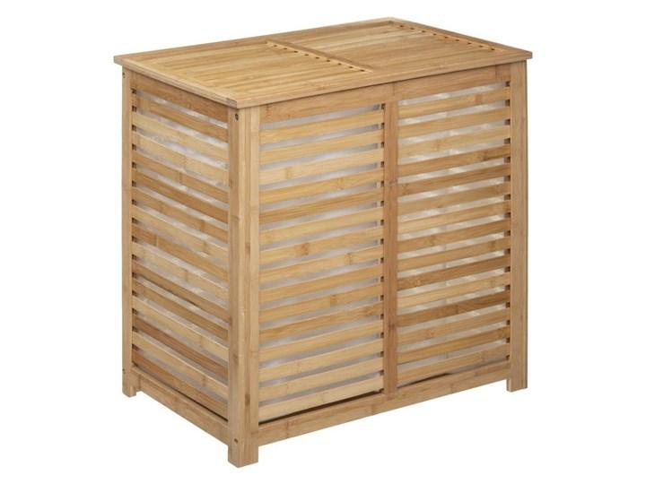 Kosz na pranie, podwójny, 2-komorowy, SICELA, bambusowy