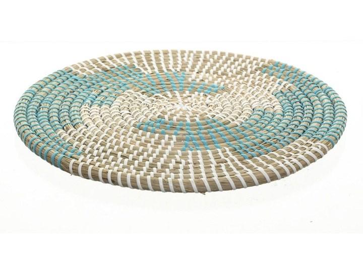 Podkładka na stół, pod talerz, dekoracyjna, wiklinowa, Ø 35 cm, kolor niebieski