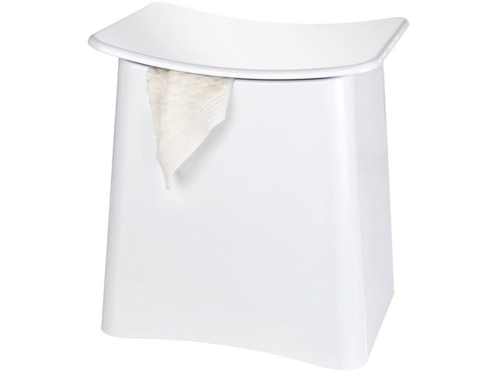 Kosz na pranie z siedziskiem, kolor biały, WENKO