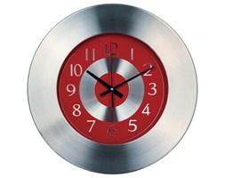 Zegar kuchenny w aluminiowej oprawie, Ø33 cm, czerwony