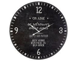 Zegar ścienny On Aime czarny, styl vintage, Ø 57 cm