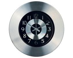 Zegar kuchenny w aluminiowej oprawie, Ø33 cm, czarny