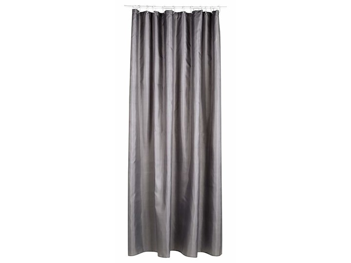Zasłona prysznicowa 180x200 cm, wykonana z szarego poliestru, Atmosphera