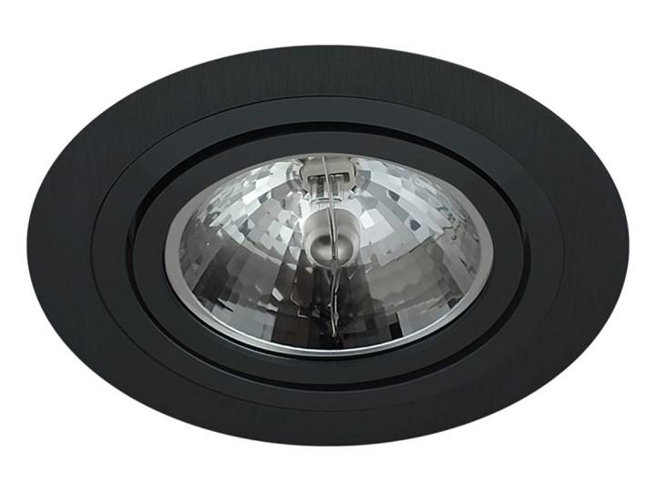 Pojedyncza ruchoma podtynkowa oprawa ES111 AR111 QR111 czarna matowa czarny mat aluminiowa Oprawa ruchoma Okrągłe Oprawa led Oprawa halogenowa Oprawa stropowa Kategoria Oprawy oświetleniowe