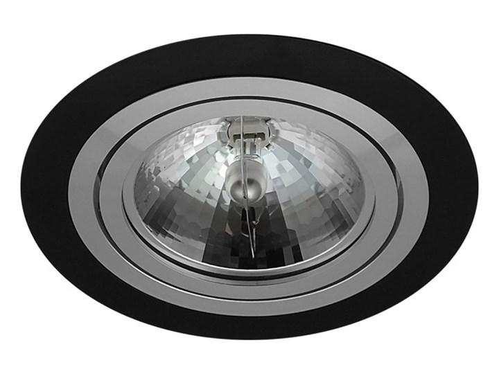 Pojedyncza ruchoma podtynkowa oprawa ES111 AR111 QR111 czarna matowa czarny mat aluminiowa