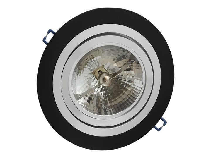 Pojedyncza ruchoma podtynkowa oprawa ES111 AR111 QR111 czarna matowa czarny mat aluminiowa Oprawa halogenowa Oprawa led Oprawa ruchoma Okrągłe Oprawa stropowa Kategoria Oprawy oświetleniowe
