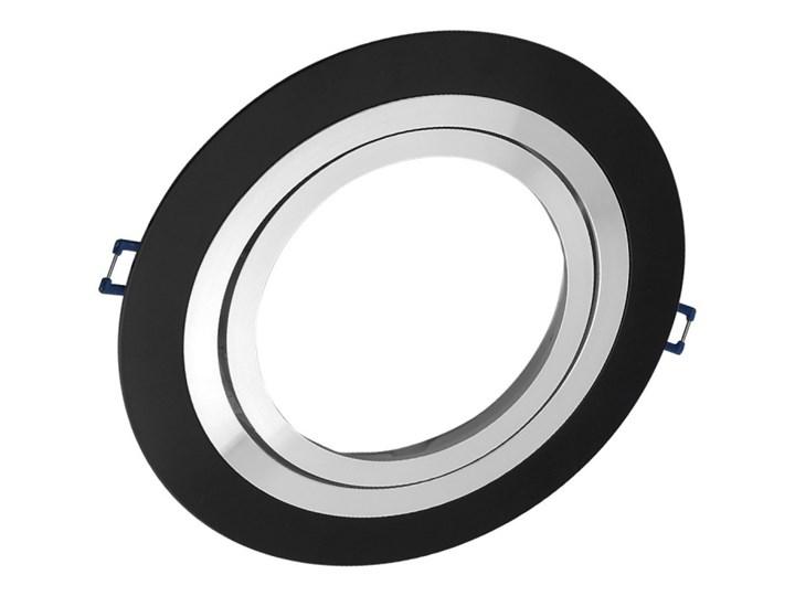 Pojedyncza ruchoma podtynkowa oprawa ES111 AR111 QR111 czarna matowa czarny mat aluminiowa Oprawa led Oprawa ruchoma Oprawa stropowa Okrągłe Oprawa halogenowa Kategoria Oprawy oświetleniowe