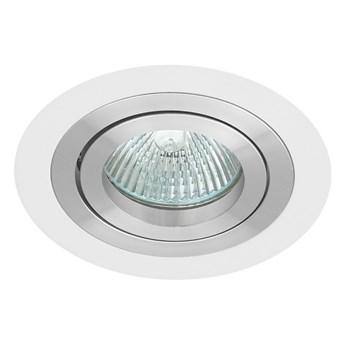 Okrągła round movable fixture sufitowa ruchoma podtynkowa oprawa MR16 GU10 GU5.3 aluminium white matt