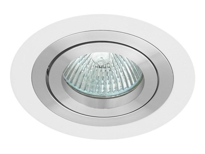 Okrągła round movable fixture sufitowa ruchoma podtynkowa oprawa MR16 GU10 GU5.3 aluminium white mat ...