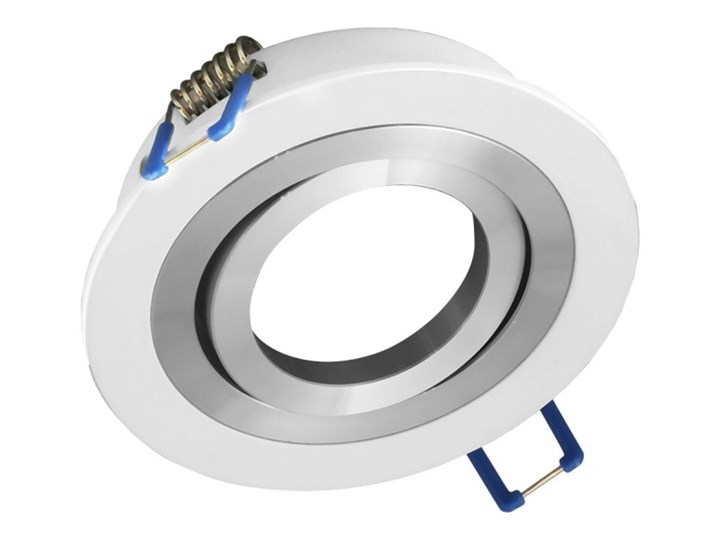 Okrągła round movable fixture sufitowa ruchoma podtynkowa oprawa MR16 GU10 GU5.3 aluminium white matt Oprawa led Oprawa stropowa Okrągłe Oprawa ruchoma Oprawa halogenowa Kolor Biały