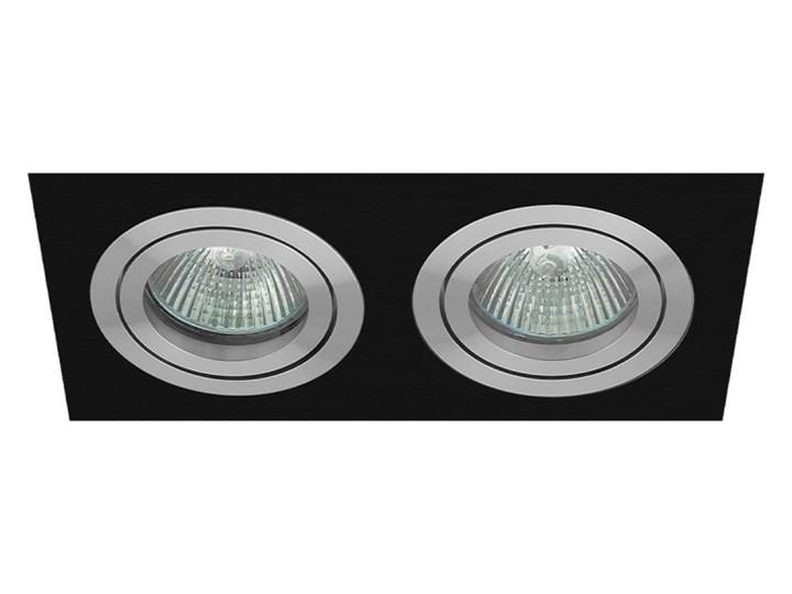 Double modern movable recessed MR16 GU10 aluminum black fixture oprawa podwójna Oprawa halogenowa Oprawa LED Oprawa stropowa