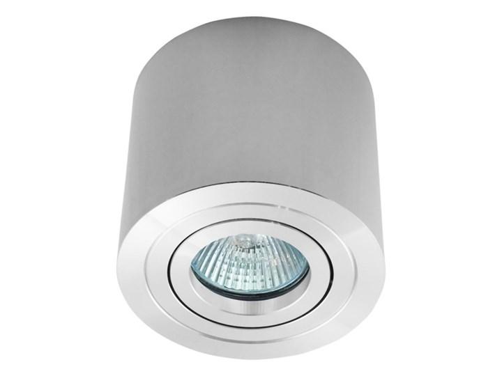 Sufitowa oprawa natynkowa, okrągła, tuba, chrom, chromowa aluminiowa Oprawa stropowa Oprawa halogenowa Okrągłe Kategoria Oprawy oświetleniowe