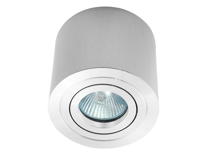 Sufitowa oprawa natynkowa, okrągła, tuba, chrom, chromowa aluminiowa Oprawa stropowa Okrągłe Kategoria Oprawy oświetleniowe Oprawa halogenowa Kolor Szary