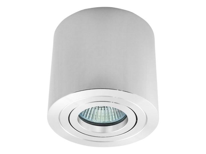 Sufitowa oprawa natynkowa, okrągła, tuba, chrom, chromowa aluminiowa Oprawa halogenowa Oprawa stropowa Kategoria Oprawy oświetleniowe Okrągłe Kolor Szary