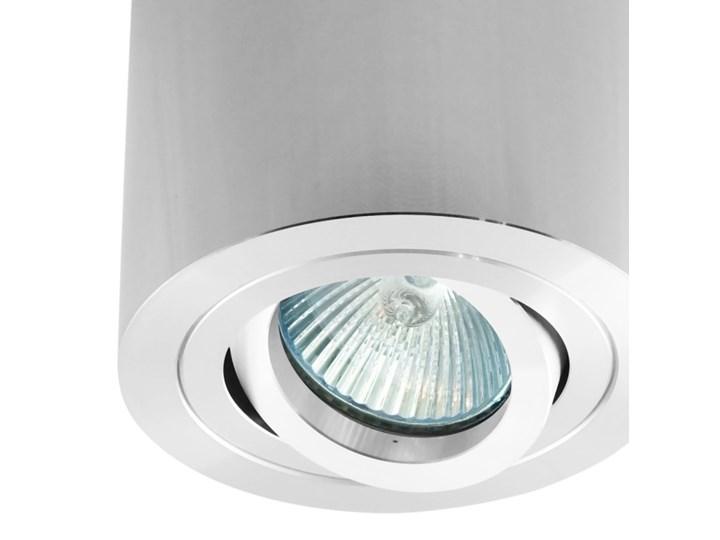 Sufitowa oprawa natynkowa, okrągła, tuba, chrom, chromowa aluminiowa Okrągłe Oprawa stropowa Oprawa halogenowa Kategoria Oprawy oświetleniowe