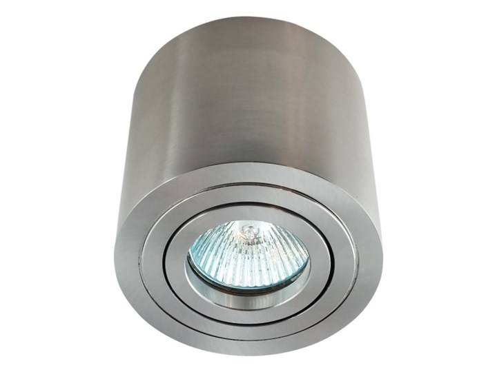 Sufitowa oprawa natynkowa, okrągła, tuba, satyna, satynowa aluminiowa Okrągłe Oprawa stropowa