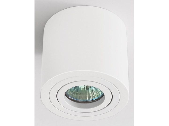 Sufitowa oprawa natynkowa, okrągła, tuba, biały mat aluminiowa Okrągłe Oprawa stropowa