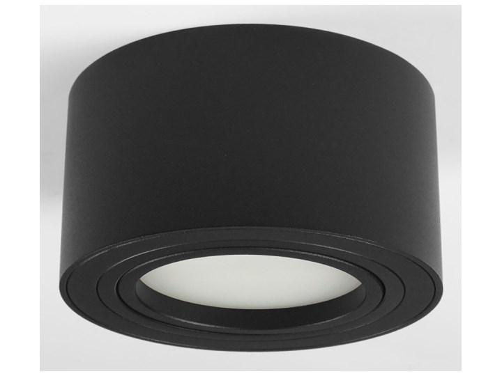 Nowoczesna oprawa sufitowa GX53 okrągła ruchoma czarna czarny mat aluminiowa Oprawa LED Oprawa ruchoma Oprawa halogenowa Okrągłe Oprawa stropowa
