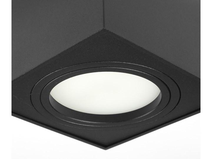 Nowoczesna oprawa sufitowa GX53 kwadrat ruchoma czarna czarny mat aluminiowa Oprawa led Oprawa stropowa Oprawa halogenowa Kwadratowe Oprawa ruchoma Kategoria Oprawy oświetleniowe