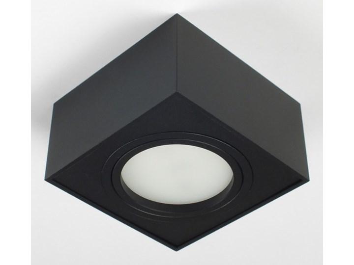 Nowoczesna oprawa sufitowa GX53 kwadrat ruchoma czarna czarny mat aluminiowa Oprawa stropowa Kwadratowe Oprawa ruchoma Oprawa led Oprawa halogenowa Kategoria Oprawy oświetleniowe