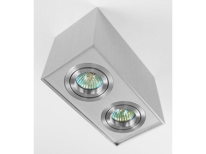 Nowoczesna podwójna sufitowa oprawa natynkowa prostokąt MR16 aluminium aluminiowa GU10 Oprawa led Oprawa stropowa Kategoria Oprawy oświetleniowe Oprawa halogenowa Prostokątne Kolor Szary