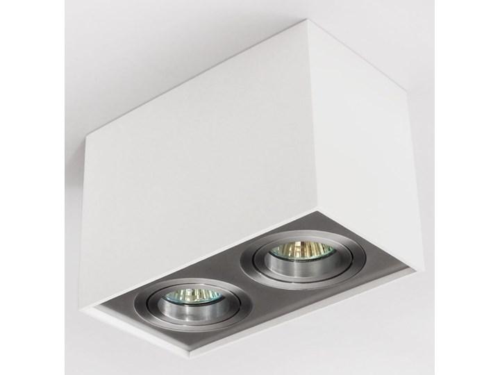 Nowoczesna podwójna sufitowa oprawa natynkowa prostokąt MR16 aluminium aluminiowa GU10 Oprawa halogenowa Kategoria Oprawy oświetleniowe Prostokątne Oprawa led Oprawa stropowa Kolor Szary
