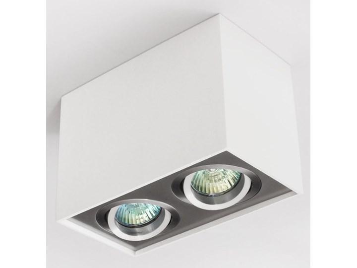 Nowoczesna podwójna sufitowa oprawa natynkowa prostokąt MR16 aluminium aluminiowa GU10 Prostokątne Oprawa halogenowa Kategoria Oprawy oświetleniowe Oprawa stropowa Oprawa led Kolor Szary
