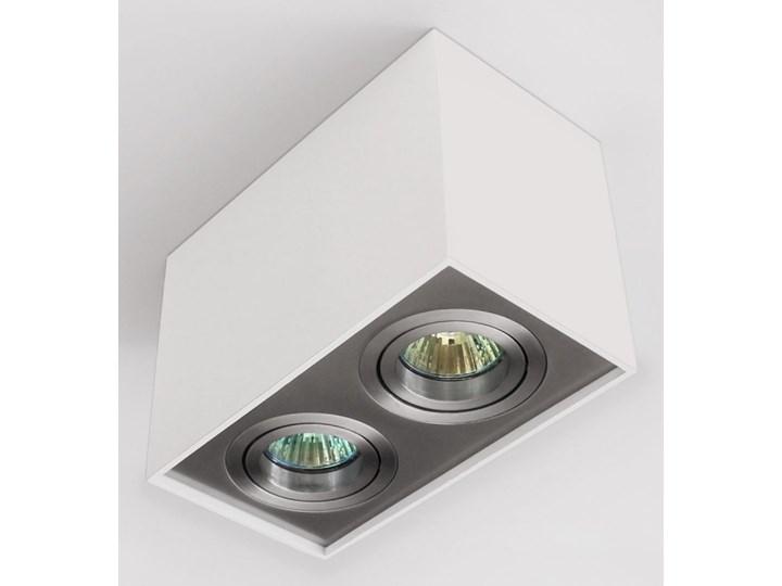 Nowoczesna podwójna sufitowa oprawa natynkowa prostokąt MR16 aluminium aluminiowa GU10 Kategoria Oprawy oświetleniowe Oprawa led Oprawa halogenowa Oprawa stropowa Prostokątne Kolor Szary