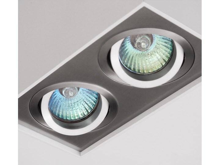 Nowoczesna podwójna sufitowa oprawa natynkowa prostokąt MR16 aluminium aluminiowa GU10 Oprawa halogenowa Kategoria Oprawy oświetleniowe Oprawa stropowa Oprawa led Prostokątne Kolor Szary