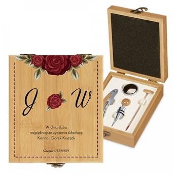 Personalizowany Zestaw Akcesoriów Do Wina Róże