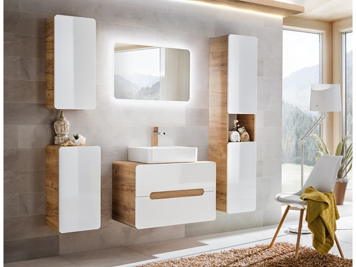 Szafka z umywalką 60 cm Aruba Drewno Kategoria Szafki stojące