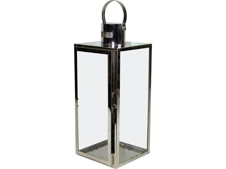 STING lampion srebrny metalowy, wys. 48 cm