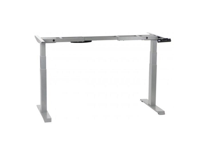 Dwusilnikowy stelaż metalowy biurka (stołu) z elektryczną regulacją wysokości, kolor aluminium, SHB320-D650-F/A