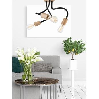 CAMERON lampa sufitowa 3-punktowa listwa buk