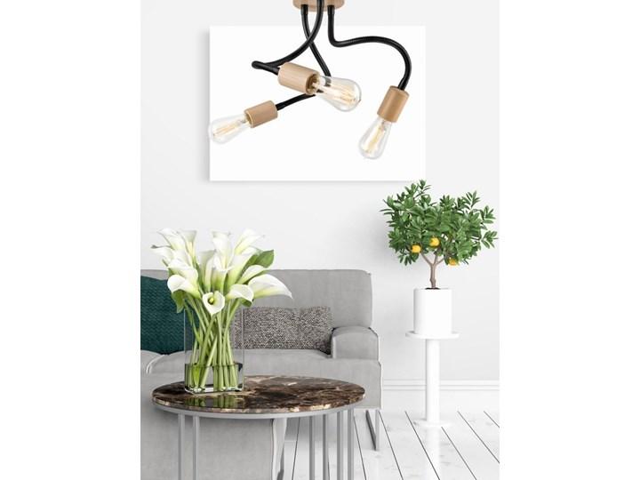 CAMERON lampa sufitowa 5-punktowa buk Drewno Metal Lampa pająk Kolor Beżowy