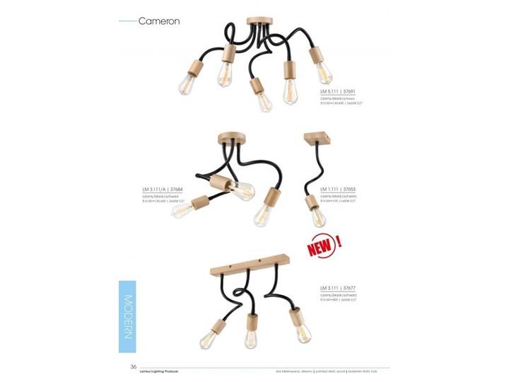 CAMERON lampa sufitowa 5-punktowa buk Lampa pająk Drewno Metal Kolor Beżowy