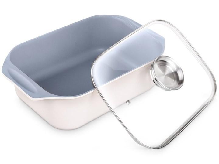Brytfanna LAMART HL0803 Aroma Garnek rzymski Naczynie z pokrywką Aluminium Kategoria Naczynia do zapiekania Ceramika Naczynie do zapiekania Kolor Biały