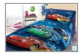 Bajkowa narzuta na łóżko dla dzieci Cars 160x200 niebieska